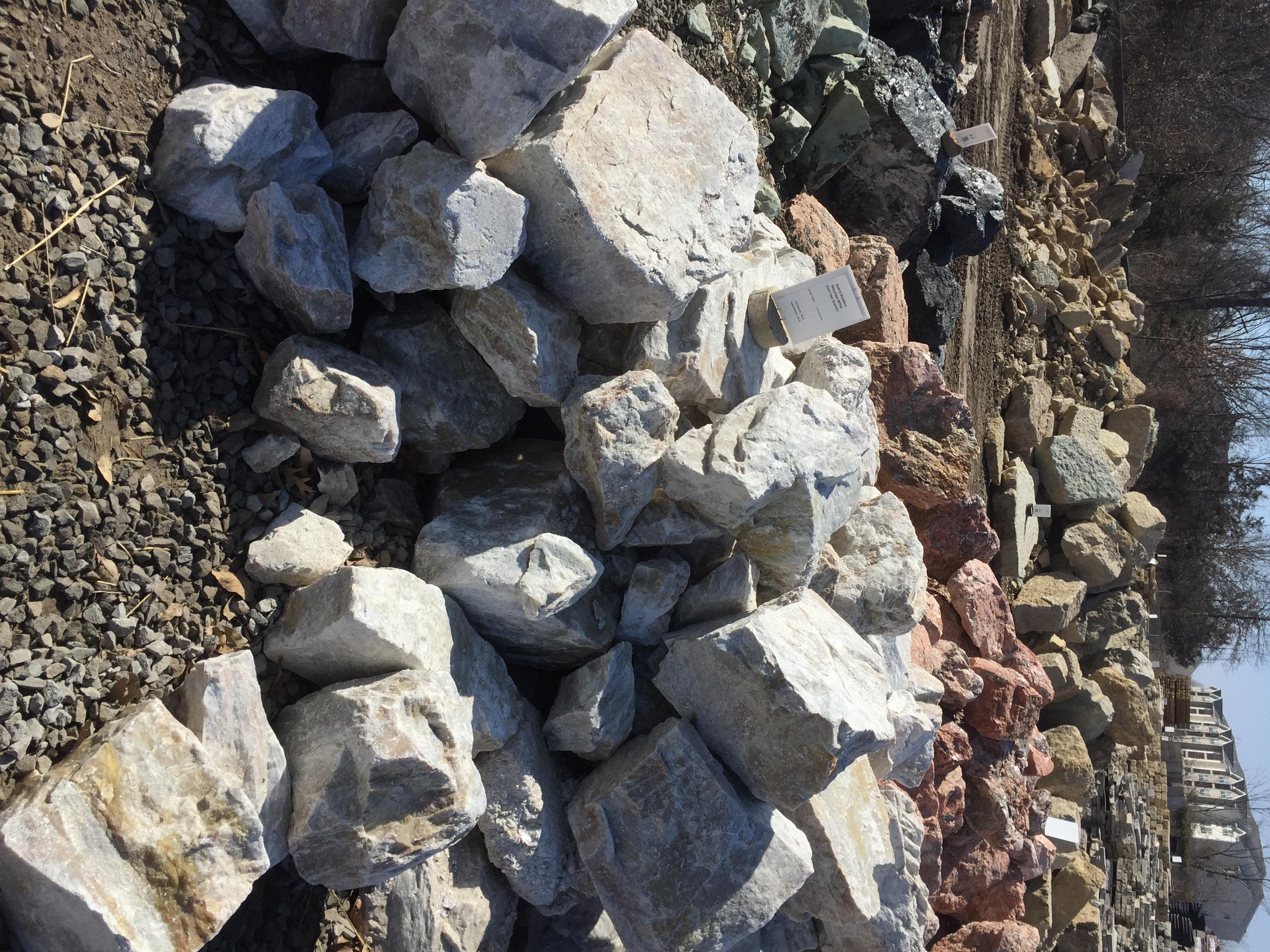 Mountain White Quartz Boulders